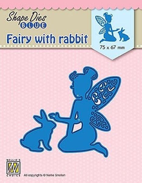 Fairie with rabbit / Fee mit hase - Shape Dies Blue Collection von Nellie´s Choice (SDB072)