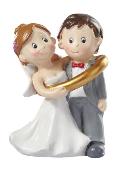 Hochzeitspaar im Ring ca. 5 cm von HobbyFun (CREApop®)
