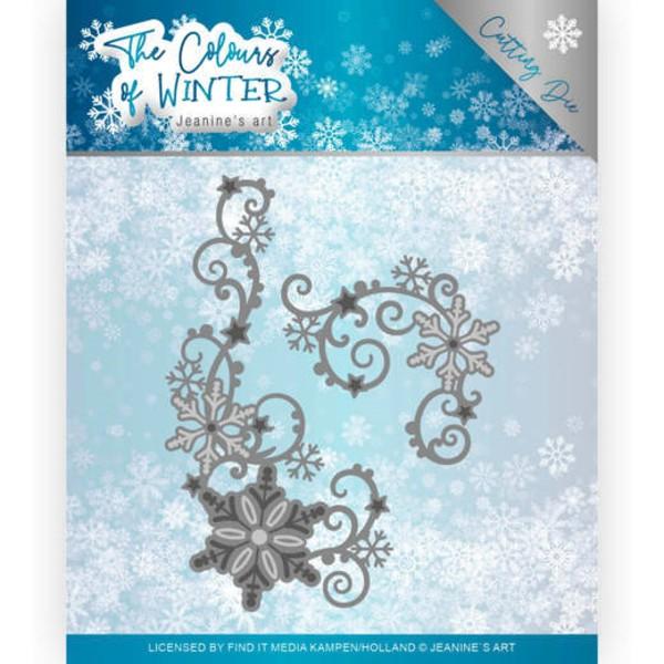 Winter Swirl - The Colours of Winter - Stanzschablone