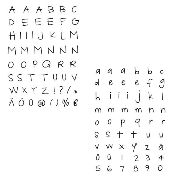 Alphabet Groß- oder Kleinbuchstaben - Stempel - Clearstamp