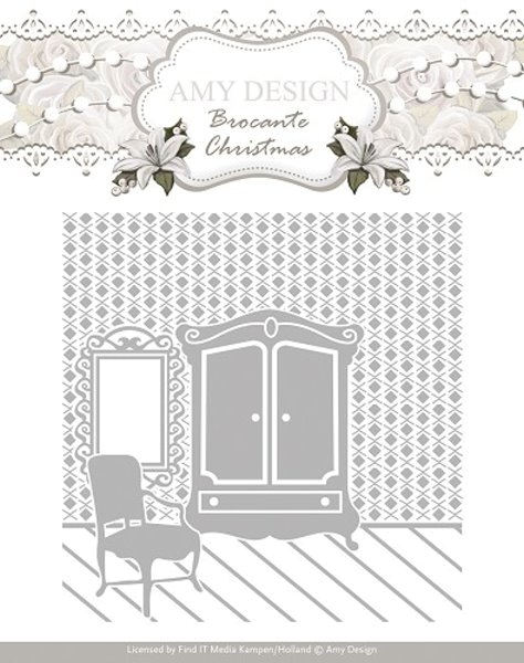 Brocante Christmas - Prägeschablone / Embossing Folder