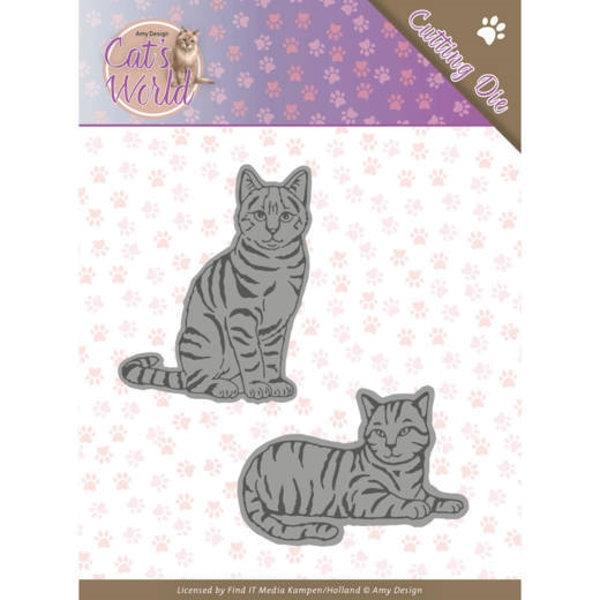 Sweet Cats / Katzen - Stanzschablone