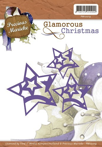 Weihnachts Sterne - Stanzschablone von Precious Marieke