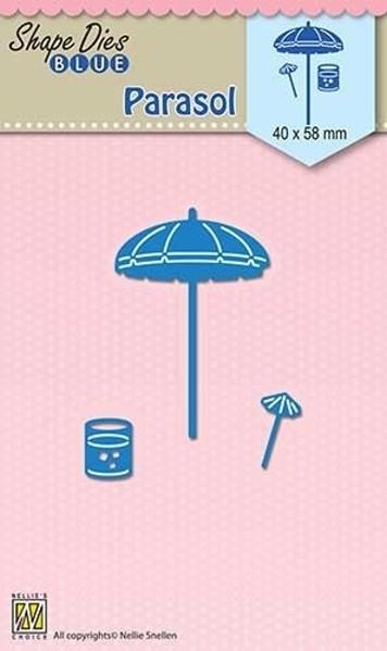 Parasol / Sonnenschirm - Stanzschablone Shape Dies Blue