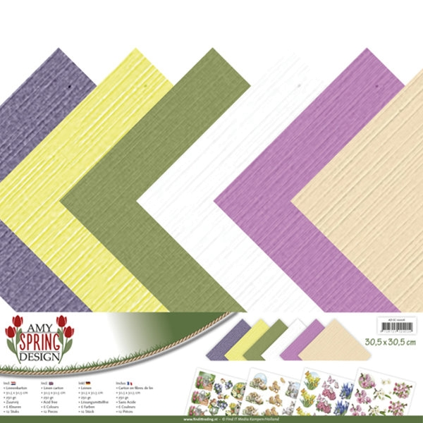 "Leinenpapier-Set Spring-Collection 12"" x 12"""