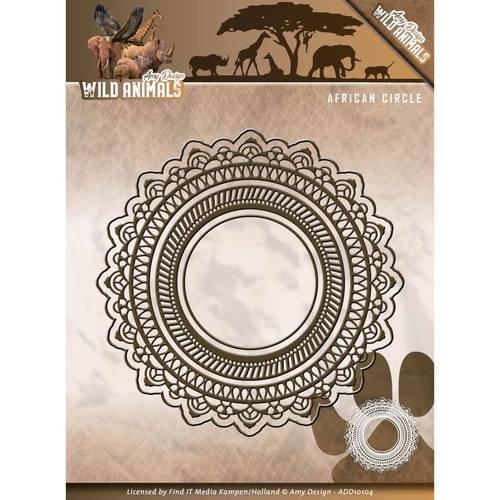 African circle - Wild Animals - Stanzschablone