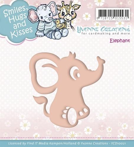 Babyelefant - Stanz- und Prägeschablone
