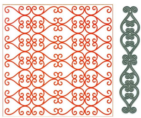 Regency - Prägeschablone + Stanzschablone von Marianne Design (DF3415)