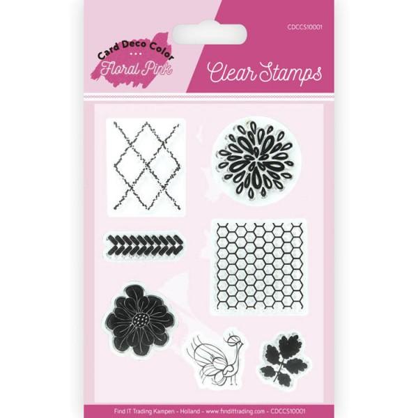 Floral Pink - Clearstamp / Stempel