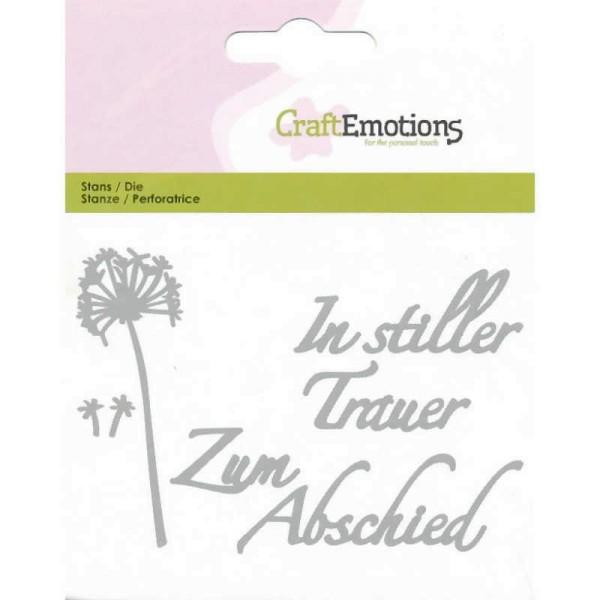 In stiller Trauer - Textschablone von CraftEmotions (115633/0424)
