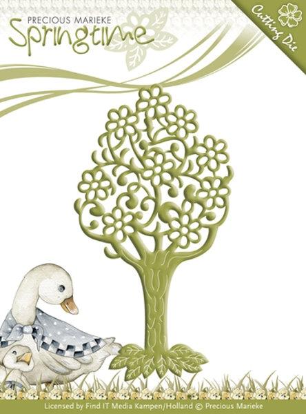 Stanzschablone - Blühender Baum