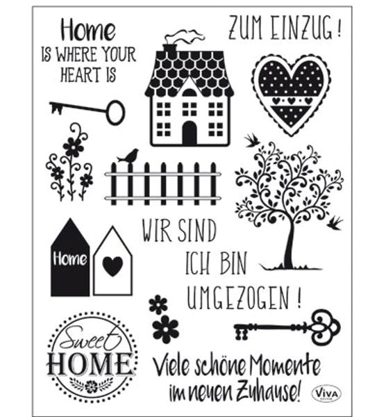Sweet Home - Stempel - Clearstamp