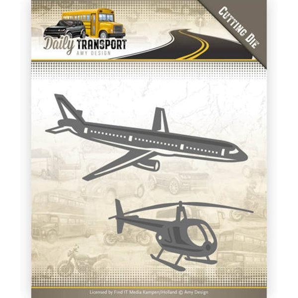 Through the Air / Flugzeug / Hubschrauber - Stanzschablone