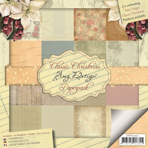 Classic Christmas - Motivpapier-Set / Scrapbook - Amy Design