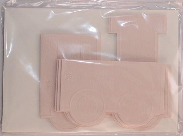 3 Grußkarten (Rohlinge) - Eisenbahn inkl. Briefumschläge