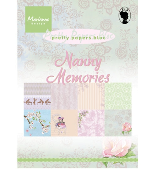 Motivpapier-Set / Scrapbook - Nanny Memories