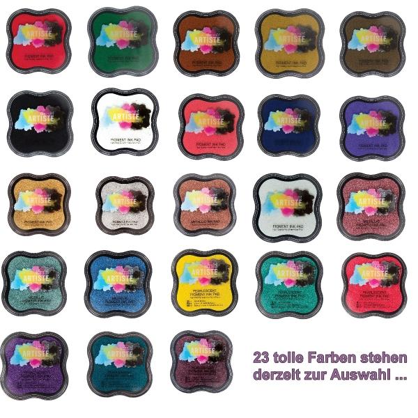 Pigmentstempelkissen in 23 versch. Farben