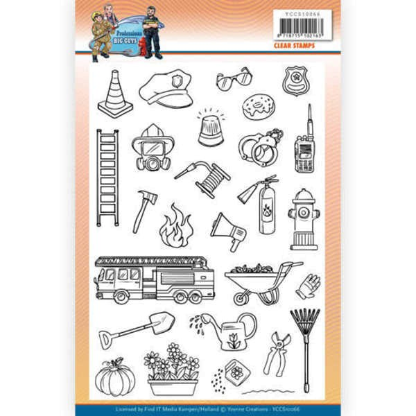Big Guys Professions - Clearstamp / Stempel von Yvonne Creations (YCCS10066)