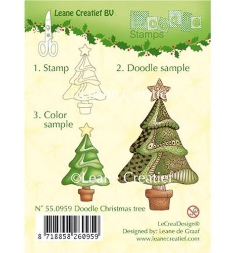 Stempel - Clearstamp - Weihnachtsbaum (Doodle) von Leane Creative