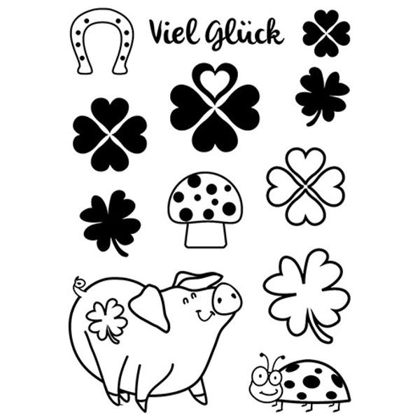 Viel Glück - Stempel / Clearstampvon efco (4510941)