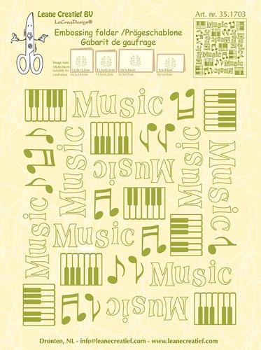 Musik - Prägeschablone / Embossing Folder
