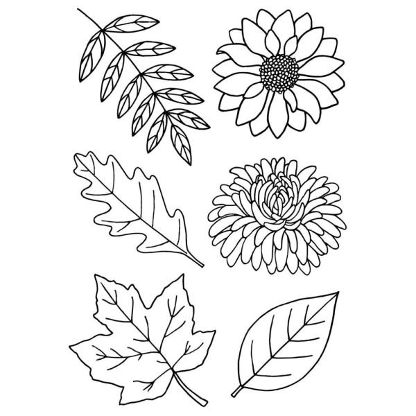 Herbstpflanzen - Stempel - Clearstamp