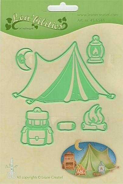 Camping / Zeltlager - Stanzschablone