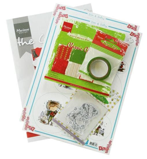 Komplettes Bastelset - Winter- / Weihnachtskarten