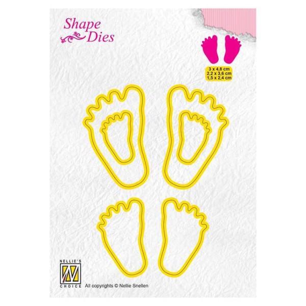 Babyfüßchen / Baby feet - Stanzschablone