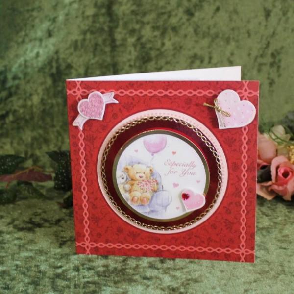 Gruß- Glückwunschkarte zum Valentinstag