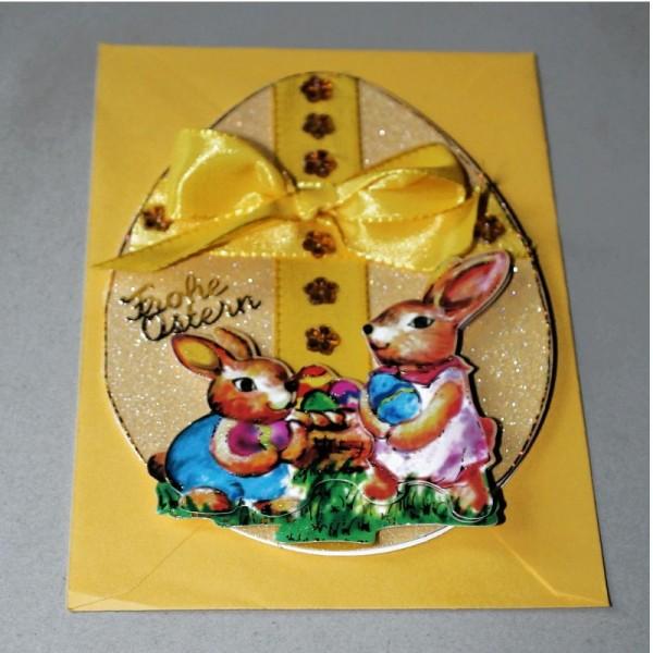 Grusskarte zum Osterfest