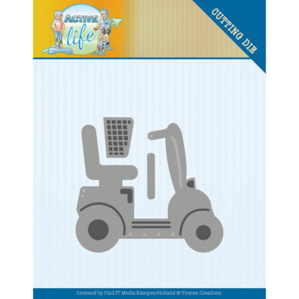 Mobility Scooter - Scooter für Gehbehinderte / Rentner - Stanzschablone