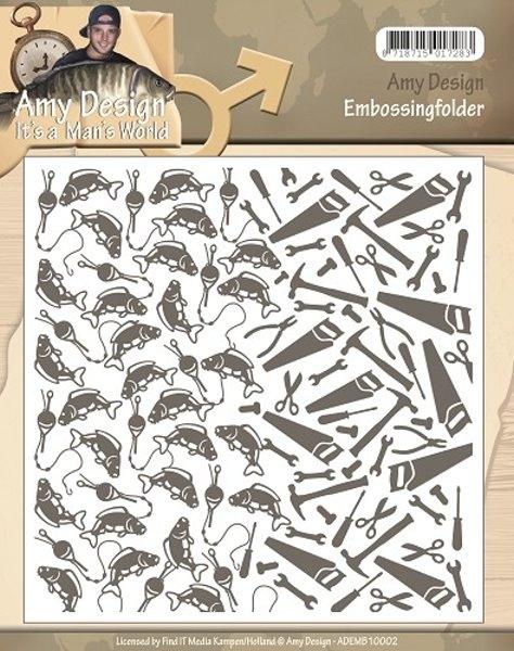 It´s a Mens World - Prägeschablone / Embossing Folder