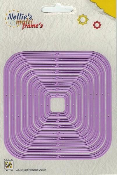 revolving square / rotierendes Quadrat - Stanzschablone