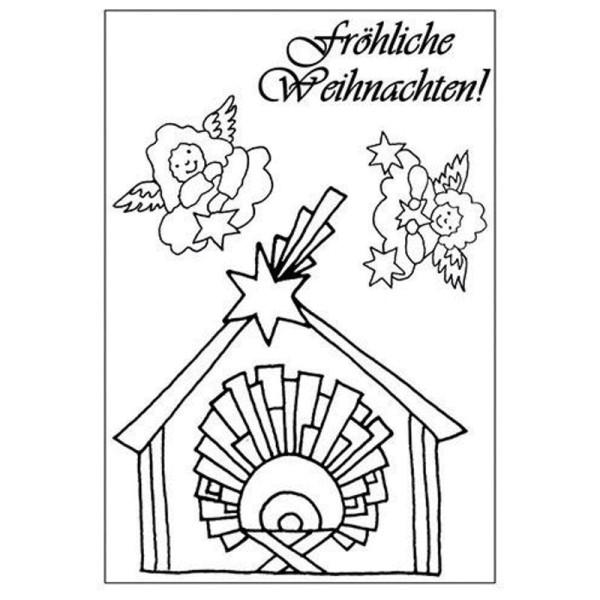Weihnachten 1 / 2 - Clear Stamp - Stempelplatte von efco (4511032 / 4511033)