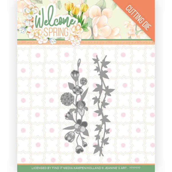 Flowers and Leaf Borders - Welcome Spring Collection von Jeanine´s Art (JAD10114)