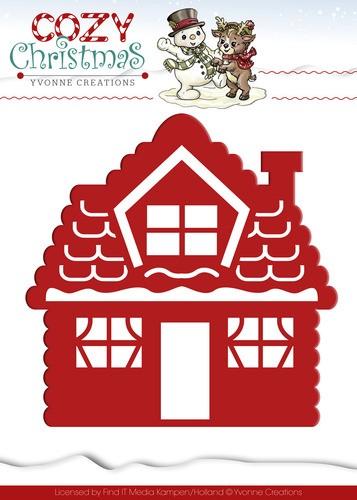 Stanzschablone - Gingerbread House / Lebkuchenhaus von Yvonne Creations