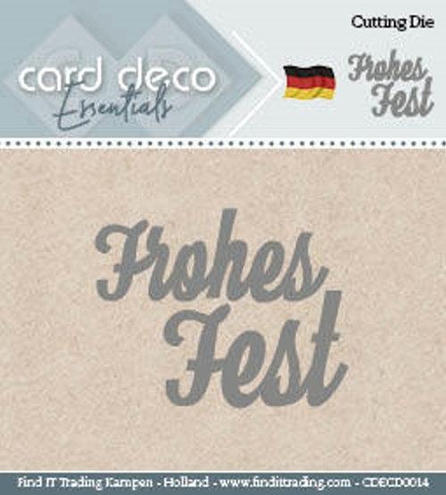 Frohes Fest - Textschablone - Stanzschablone