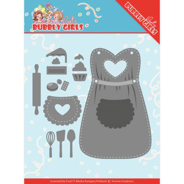 Apron / Schürze / Backutensilien - Bubbly Girls Party Collection - Stanzschablone