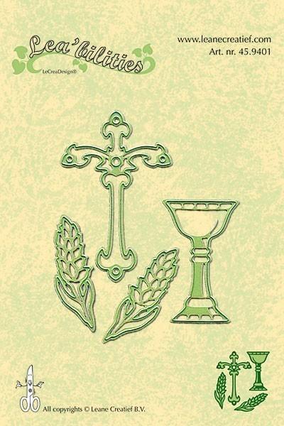 Stanz- und Prägeschablonen - Christliche Symbole (Kreuz, Kelch und Ähren)