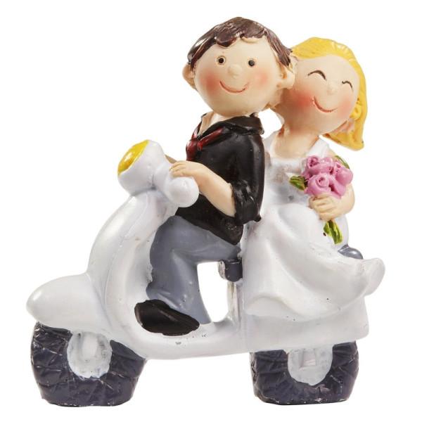 Hochzeitspaar mit Roller ca. 5x6 cm von HobbyFun (CREApop®)