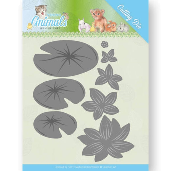 Lily Pond Leaves / Lilienteich-Blätter - Stanzschablone