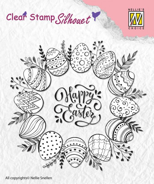 """Silhouette """"Happy Easter"""" - Stempel / Clearstamp"""