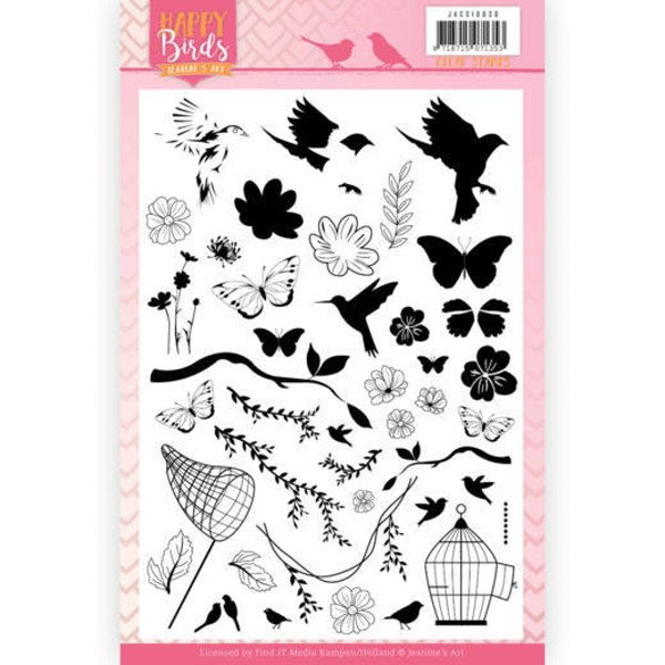 Happy Birds - Clearstamp / Stempel