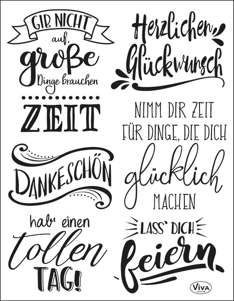 Lettering Deutsch - Stempel - Clearstamp