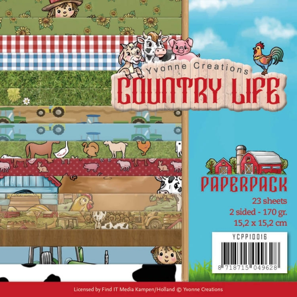 Country Life - Motivpapier-Set / Scrapbook