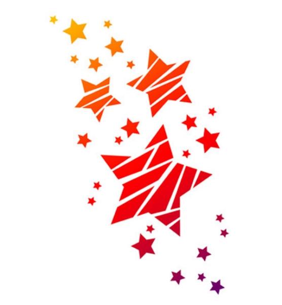Universal-Schablone - Sterne DIN A4