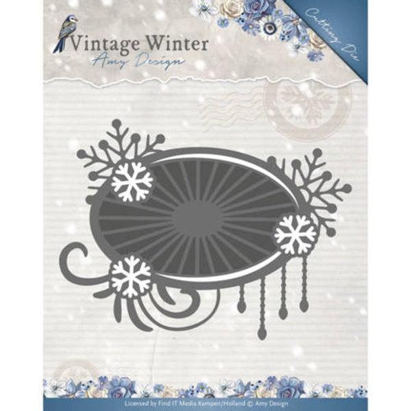 Snowflake Swirl Label - Stanzschablone