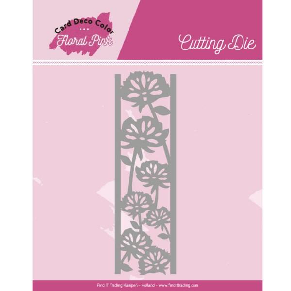 Floral Pink Border - Stanzschablone