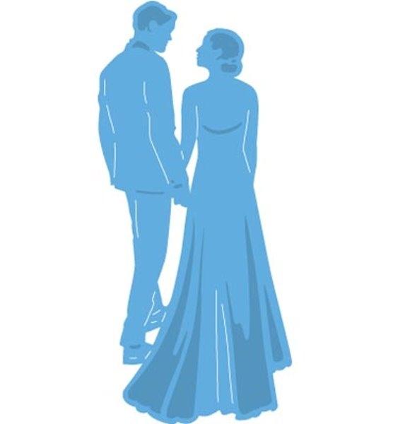 Tiny´s Wedding / Hochzeitspaar - Stanzschablone